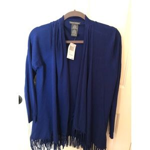Blue Sweater with tassles